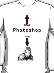 Photoshop before after T-Shirt