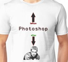 Photoshop before after Unisex T-Shirt
