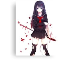 Girl with sword Canvas Print