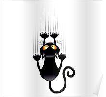Clings cat Poster