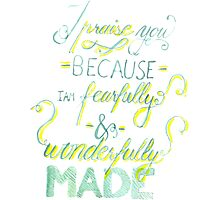 I Praise You Because I Am Fearfully and Wonderfully Made Photographic Print