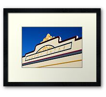 Newcastle Baths Art Deco Facade Framed Print