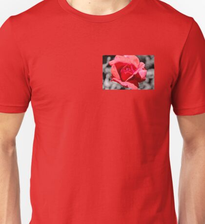 Red Rose Splash Unisex T-Shirt