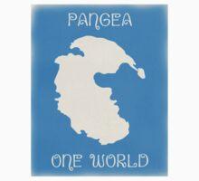 Pangea World Map - Blue One Piece - Short Sleeve