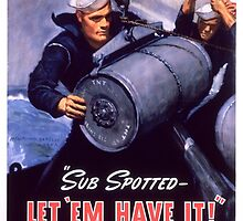 let_em_have_it - Marine Corps recruiting poster from World War II by Adam Asar