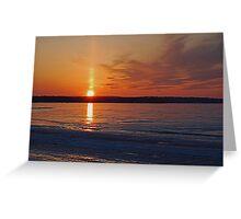 Whiskey Sunset On Ice Greeting Card