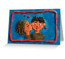 a kiss Greeting Card