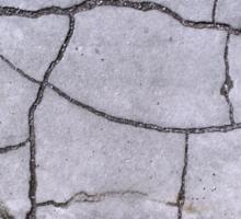 Cracked Concrete Pavement Patterns Sticker