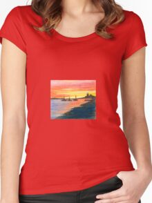 Three Ships at Sunset 2 Women's Fitted Scoop T-Shirt