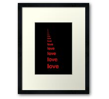 Love perspective Framed Print