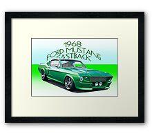 1968 Ford Mustang Fastback IV Framed Print