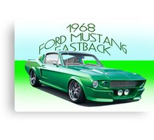 1968 Ford Mustang Fastback IV Canvas Print