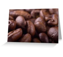 Coffee beans background Greeting Card
