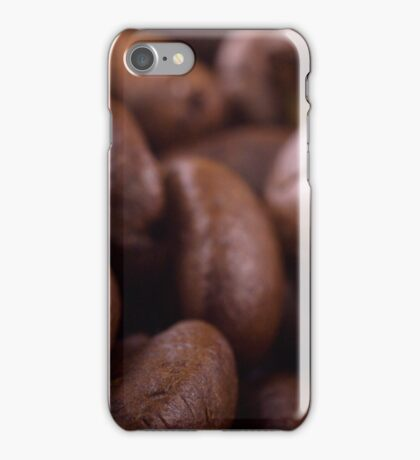 Coffee beans background iPhone Case/Skin