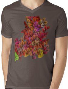 Floral Mens V-Neck T-Shirt
