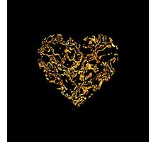Lace Golden Heart (on black) Photographic Print