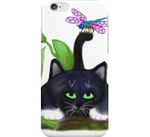 Dragonfly Lands on a Tail iPhone Case/Skin