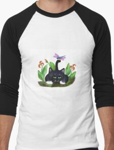 Dragonfly Lands on a Tail Men's Baseball ¾ T-Shirt