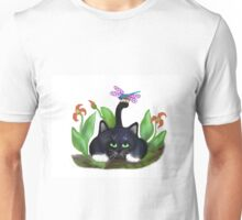 Dragonfly Lands on a Tail Unisex T-Shirt