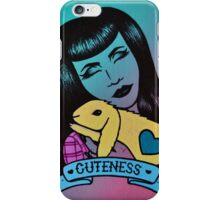 A Girl and Her Bunny iPhone Case/Skin