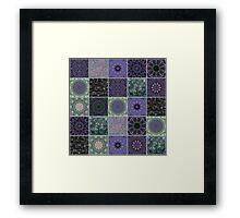 Lavender Crazy Quilt Framed Print