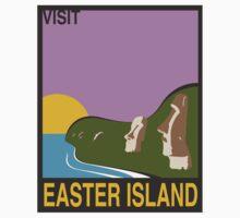Visit EASTER ISLAND Travel Poster Kids Tee