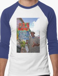 Smoothies stall in Antigua Caribbean Men's Baseball ¾ T-Shirt