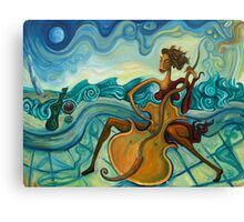 Veracruz and Jarocha playing by the 'malecon' Canvas Print
