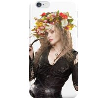 bellatrix with flower crown iPhone Case/Skin