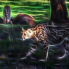 King Cheetah And 3 Cubs by miroslava