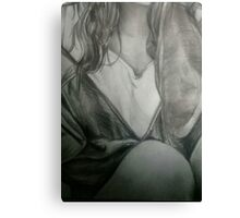 Detailed Female Sketch  Canvas Print