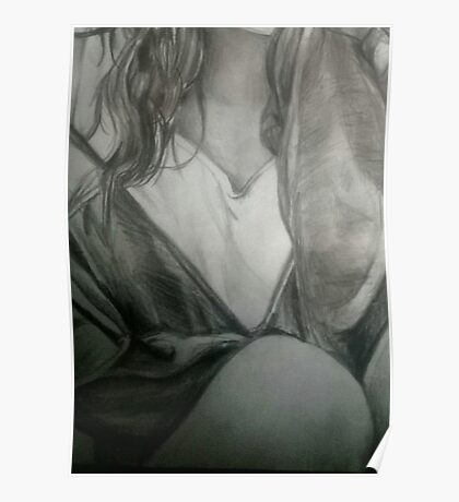 Detailed Female Sketch  Poster
