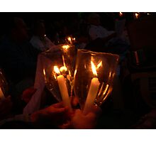 Light a candle for you... Photographic Print