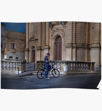 Gozo Cycler Poster