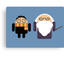 Harry Pottroid and Dumbledroid Canvas Print