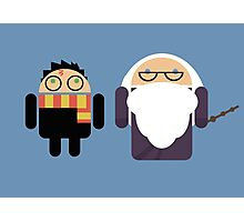 Harry Pottroid and Dumbledroid Photographic Print
