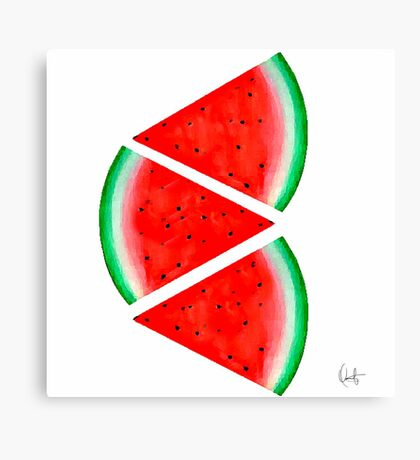 Watermelon Slice Canvas Print