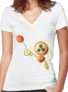 Rotom-Fan with Air Balloon (sans text) Women's Fitted V-Neck T-Shirt