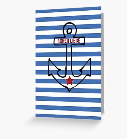 Anker Liebe Greeting Card
