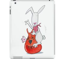 Rodeo Rabbit- Cowboy Bunny on a Space Hopper  iPad Case/Skin