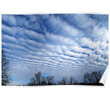 Clouds like corduroy. Poster