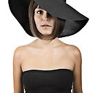 woman in a black hat by Chad Matthew Carlson