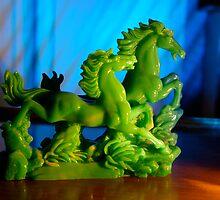 Jade Horses by Maria Bell