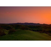 Sunset from Blackhawk, CA Photographic Print