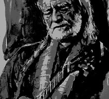 Willie Nelson in B&W by lauiduc