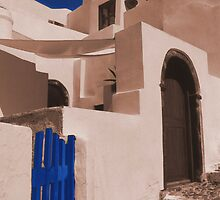 Santorini: Blue gate by Zoon3d