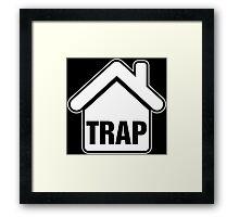 White Trap Framed Print