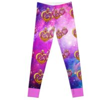 sailor moon power make up lockets galaxy  Leggings