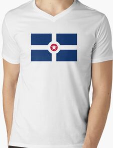 Flag of Indianapolis  Mens V-Neck T-Shirt