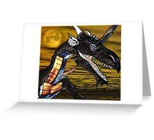 Portrait of a Dragon Greeting Card